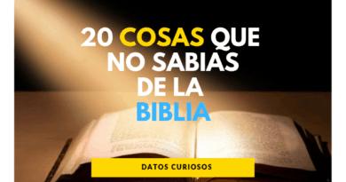 20 Cosas que no sabias de la Biblia